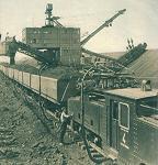 Добыча руды на Камыш-Бурунском железорудном комбинате, электровоз EL-3