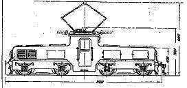 Электровоз ПТу, чертеж